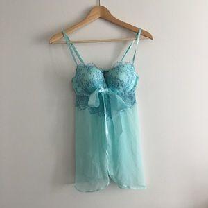 Victoria's Secret SEXY Lace Strappy Tie Front Slip